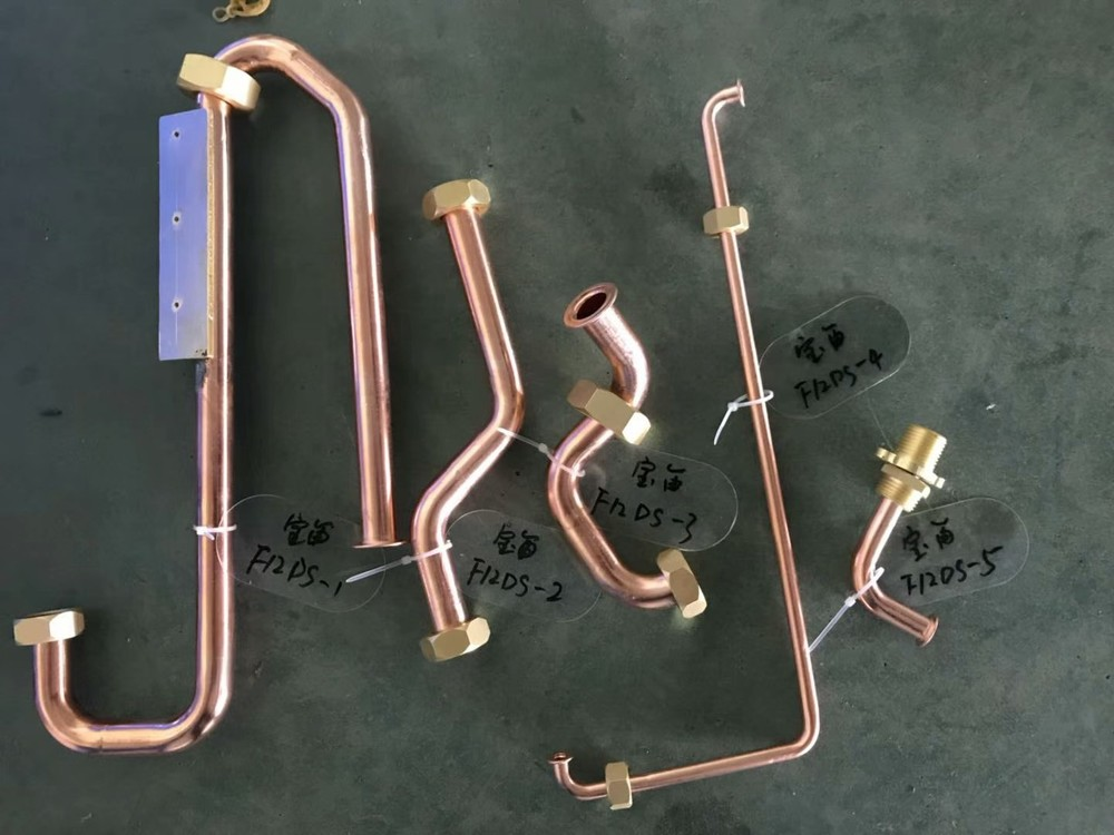 Copper Temperature Control Pipe fitting parts  for The Air Conditioner and The Refrigerator